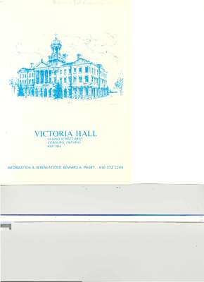 Town of Cobourg Grand Re-Opening Of Victoria Hall
