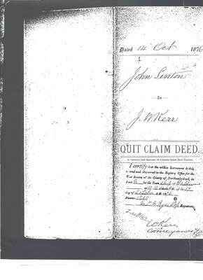 Quit Claim Deed from John Linton to J.W. Kerr