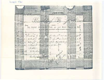 A document accounting monthly payment of meats