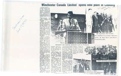 Winchester Canada Limited opens new plant in Cobourg