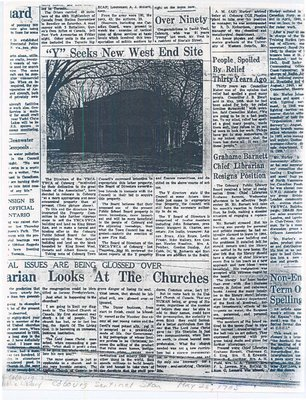 Article entitled, 'Grahame Barnett Chief Librarian Resigns Position'