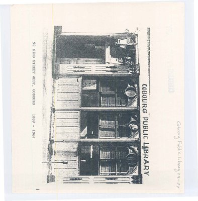 Picture of one of the Cobourg Public Libraries in 1889-1964