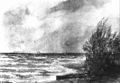 """A Breezy day on Lake Ontario, at Cobourg"""