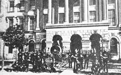 Cobourg Firemen and Parade Machine