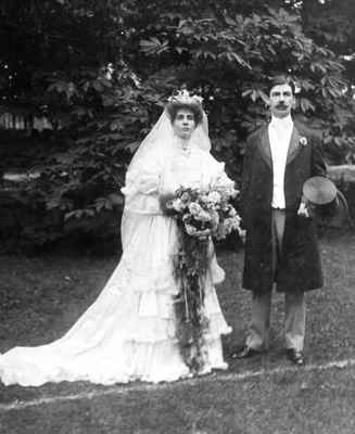 Wedding photograph of Donald and Edith Kerr Macdonald