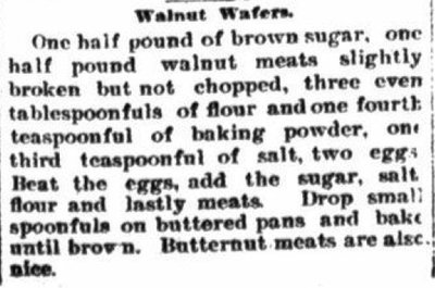 Walnut Wafers