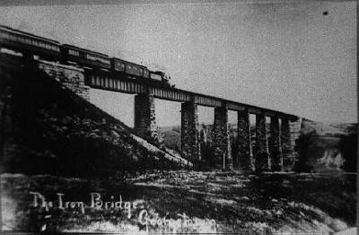 Train on Iron Bridge