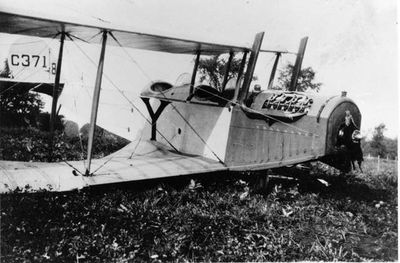 Aeroplane on James Moore Farm