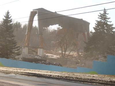 Demolition of Holy Cross Church