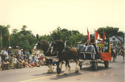 Georgetown Fair Float in Canada Day Parade