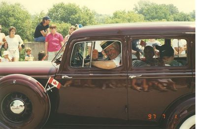 Antique Sedan in Canada Day Parade