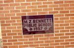 Dedication Plaque at M.Z. Bennett School