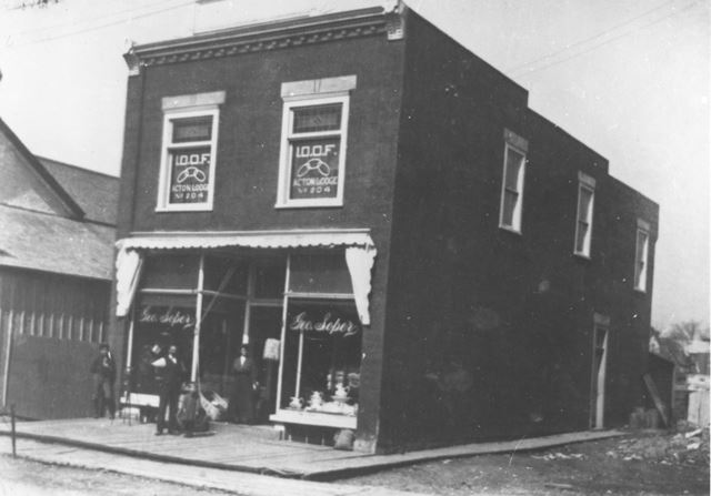 George Soper in Front of His Store