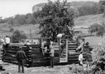 Reconstructing 1822 Log Cabin at Halton County Museum