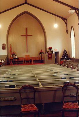 Interior View of Boston Presbyterian Church