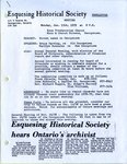 Equesing Historical Society 1979