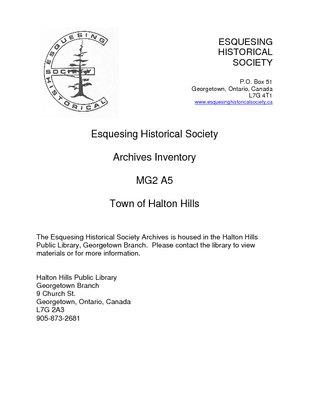 MG2 A5 Town of Halton Hills