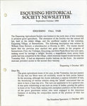 Esquesing Historical Society Newsletter September 1990