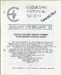 Esquesing Historical Society Newsletter January 1993