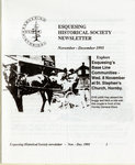 Esquesing Historical Society Newsletter November 1995