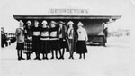 Ladies Outside Canadian National Railway Station, 1920