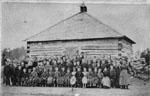 First Log School in Erin Township