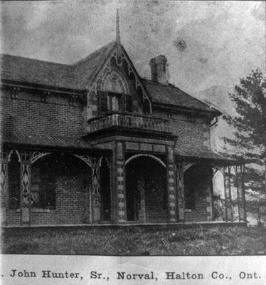 Farm residence of John Hunter Sr.