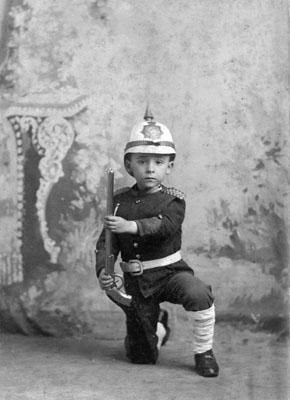 Boy in uniform - Boer War era