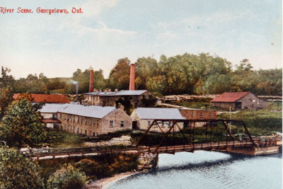 Barber Paper Mills and the Credit River c. 1910