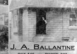 John Albert Ballantine's shoe store 1920