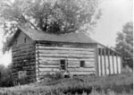 log cabin: birthplace of Elizabeth Duff