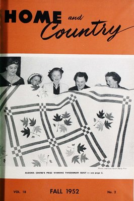 Home & Country Newsletters (Stoney Creek, ON), Fall 1952