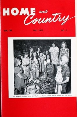 Home & Country Newsletters (Stoney Creek, ON), Fall 1972