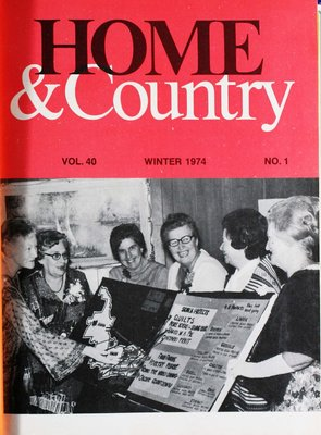 Home & Country Newsletters (Stoney Creek, ON), Winter 1974