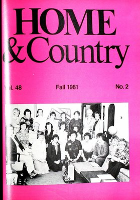 Home & Country Newsletters (Stoney Creek, ON), Fall 1981