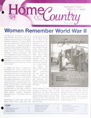 Home & Country Newsletters (Stoney Creek, ON), Winter 2005