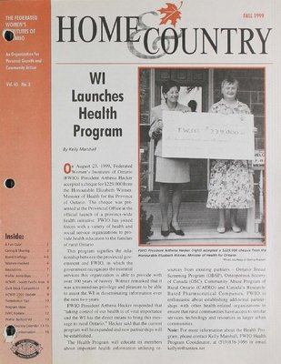 Home & Country Newsletters (Stoney Creek, ON), Fall 1999