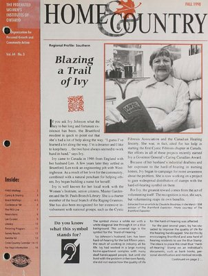 Home & Country Newsletters (Stoney Creek, ON), Fall 1998