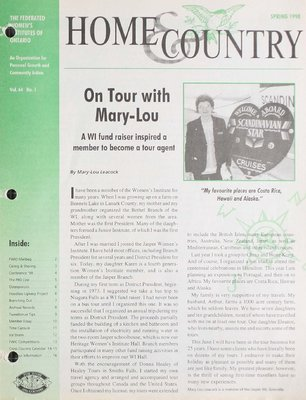 Home & Country Newsletters (Stoney Creek, ON), Spring 1998