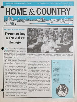 Home & Country Newsletters (Stoney Creek, ON), Winter 1997-1998