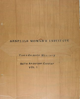 Arnprior WI Tweedsmuir Community History - Volume 5