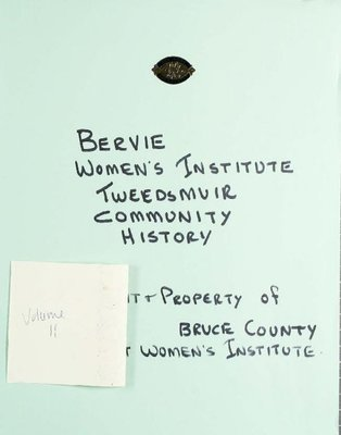 Bervie WI Tweedsmuir Community History, Volume 11