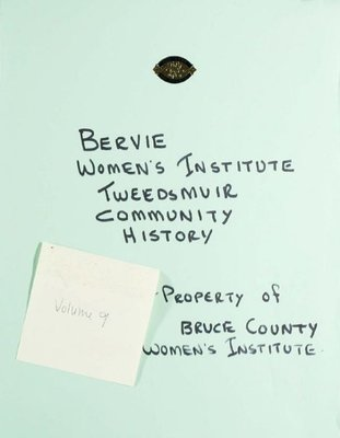 Bervie WI Tweedsmuir Community History, Volume 9