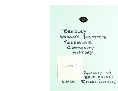 Bradley Women's Institute Volume 1