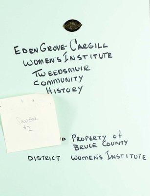 Eden Grove-Cargill WI, Scrapbook 2
