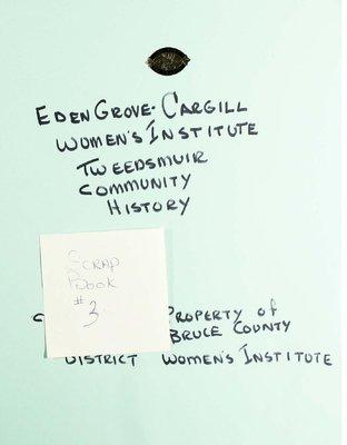 Eden Grove-Cargill WI, Scrapbook 3