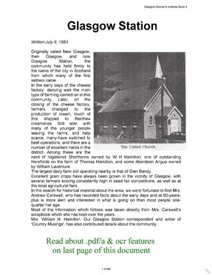 Glasgow WI Tweedsmuir Community History - Volume 4