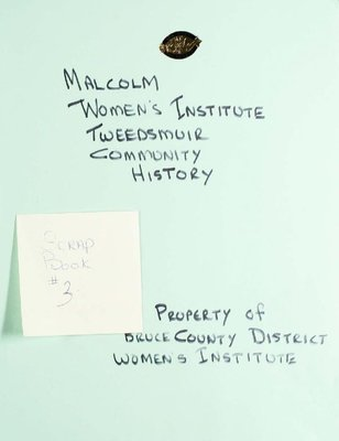 Malcolm Women's Institute Scrapbook 3