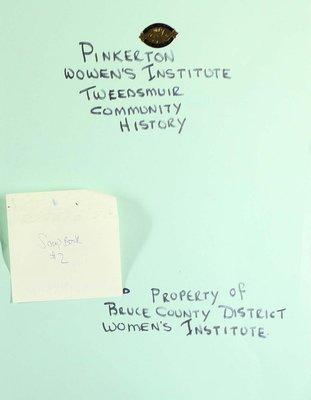 Pinkerton WI Scrapbook, Volume 2
