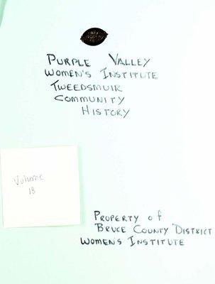 Purple Valley WI Tweedsmuir Community History, Volume 18